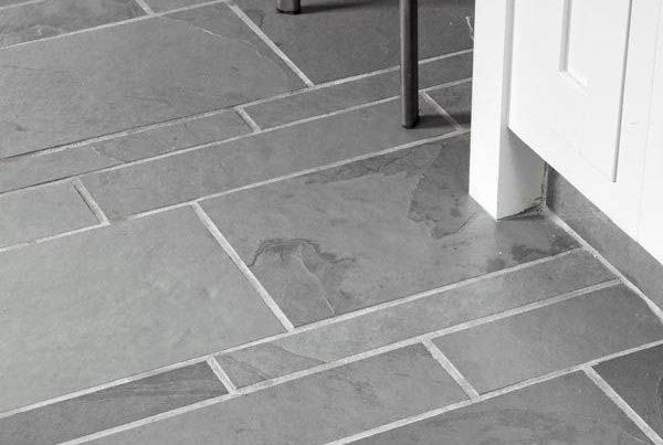 Slate flooring